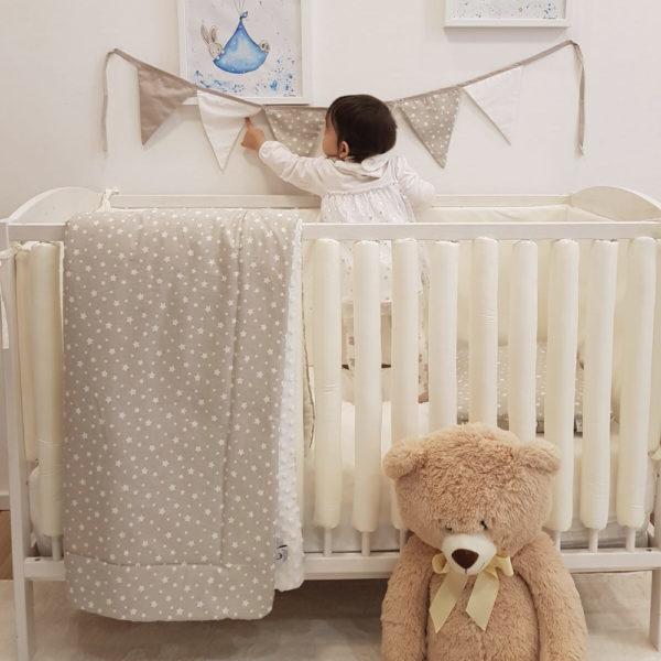 zaštitne navlake za rešetke krevetića za bebe krem