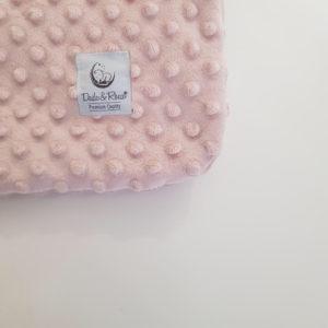 dekica minky za bebe puder roza