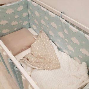 dekica minky za bebe s punjenjem