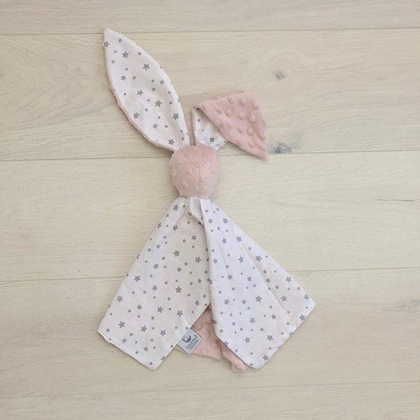 Cuddle toy bunny Sky & Powder pink