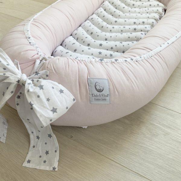 Dada&Rocco Baby nest - Baby pink & Sky
