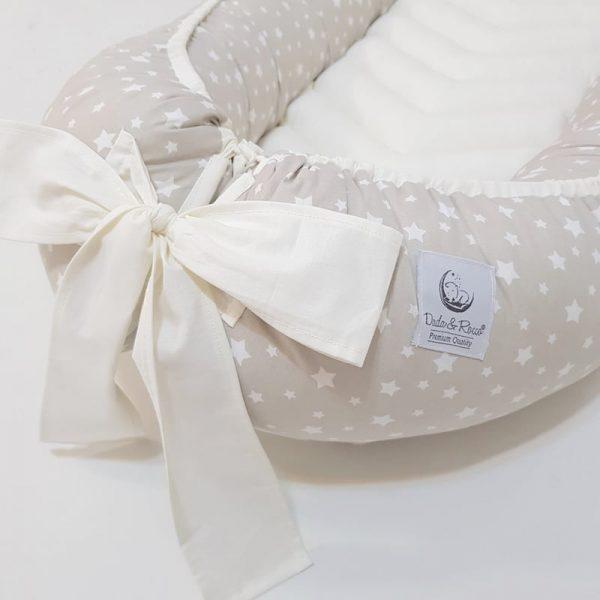 Dada&Rocco baby nest beige & cream