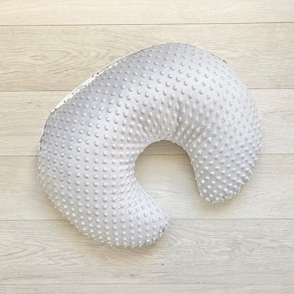 D&R breastfeeding pillow Sky - minky side
