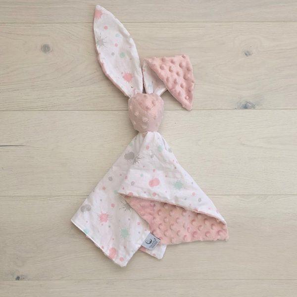 Cuddle toy bunny Aura & Powder pink
