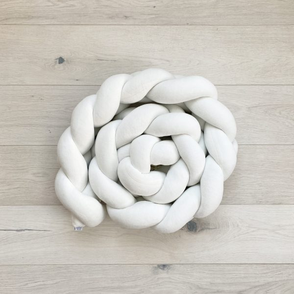 Braided crib bumper cream