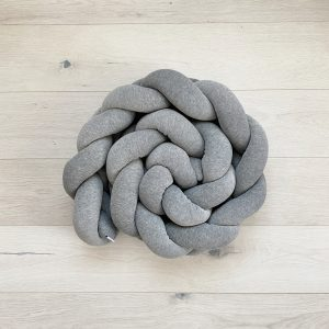 Braided crib bumper grey