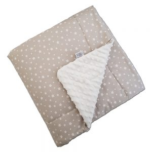 Dada&Rocco minky blanket M - beige stars & cream