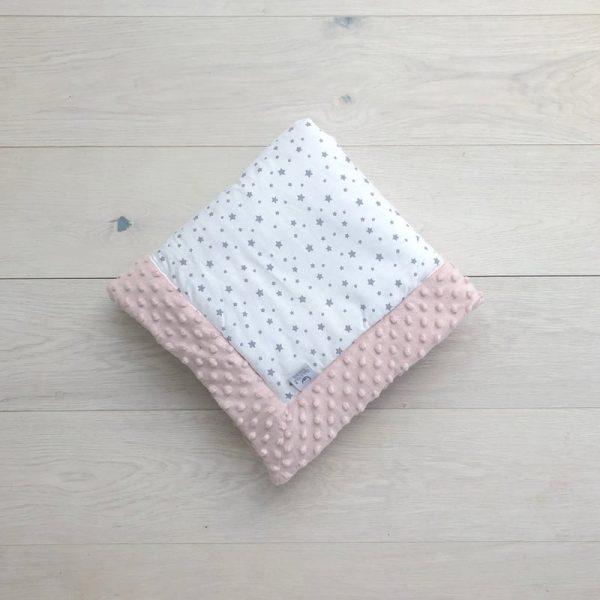 Dada&Rocco Minky blanket S - Sky & Powder pink