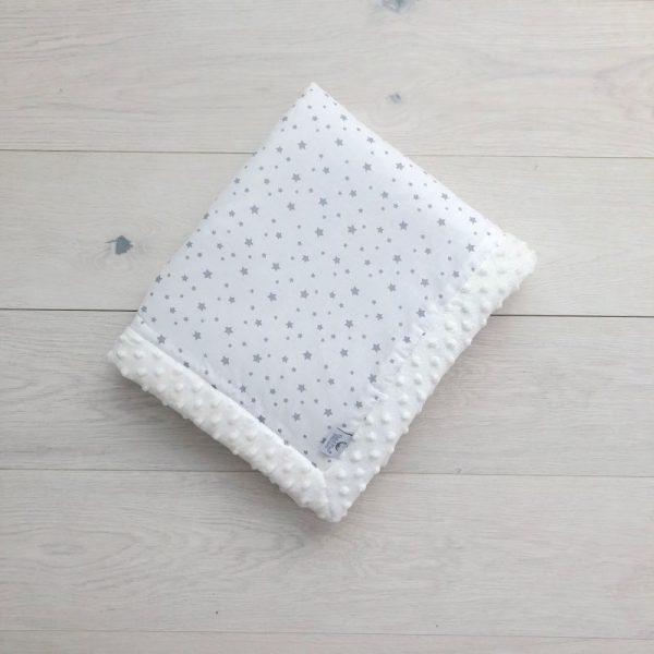 Dada&Rocco Minky blanket S - Sky & Cream