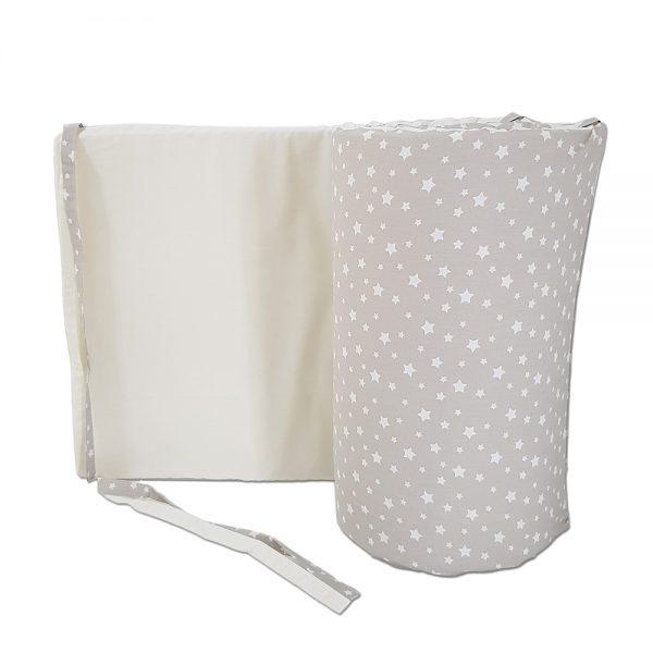 Dada&Rocco Crib bumper - Beige stars & cream