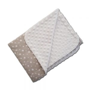 Dada&Rocco Light minky blanket - Beige stars & Cream