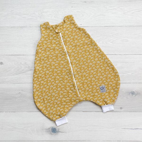 Dada&Rocco - sleeping bag tiny rainbows yellow