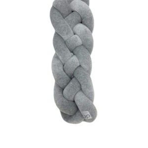 D&R Premium Braided Crib Bumper - Grey
