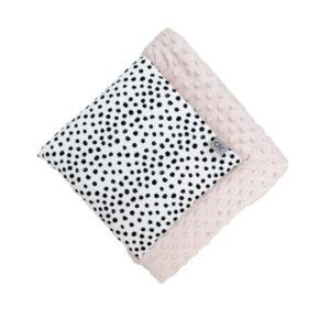 D&R minky blanket S - dots & baby pink