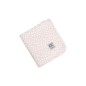 Dada&Rocco Light Minky Blanket - White dots on Pink