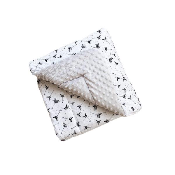 Dada&Rocco Minky Blanket M - Arrows & Grey