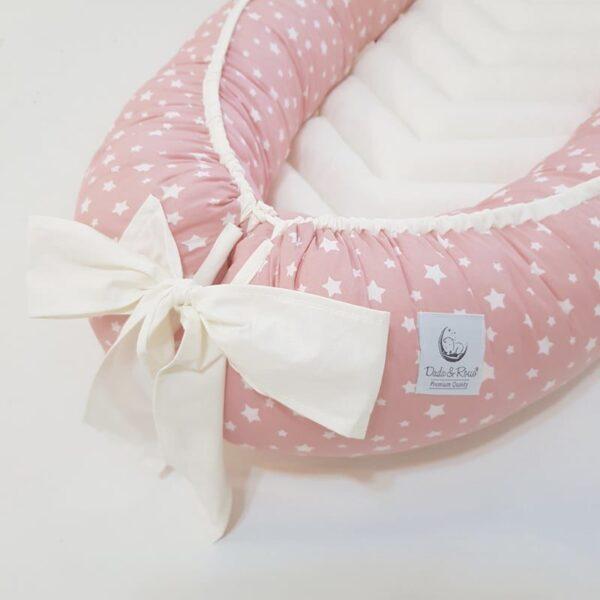 gnijezdo za bebe baby nest zvjezdice roza