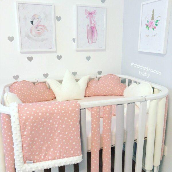 krevetić za bebe ukrasni jastuk kruna oblak