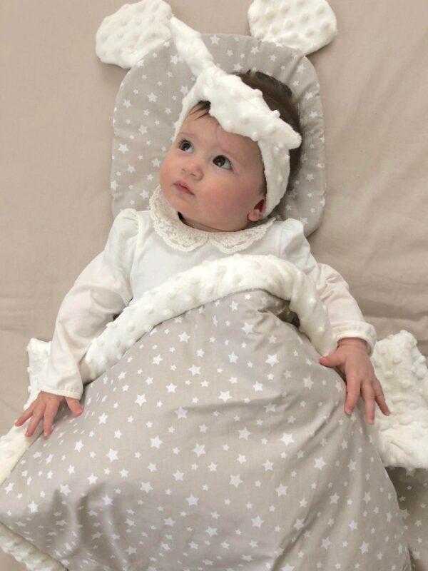jastuk uško za bebe za krevetić i kolica